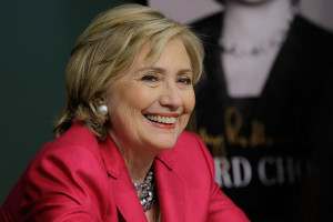 "NEW YORK, NY - JUNE 10:  Former US Secretary of State Hillary Rodham Clinton  promotes ""Hard Choices"" at Barnes & Noble Union Square on June 10, 2014 in New York City.  (Photo by John Lamparski/WireImage)"