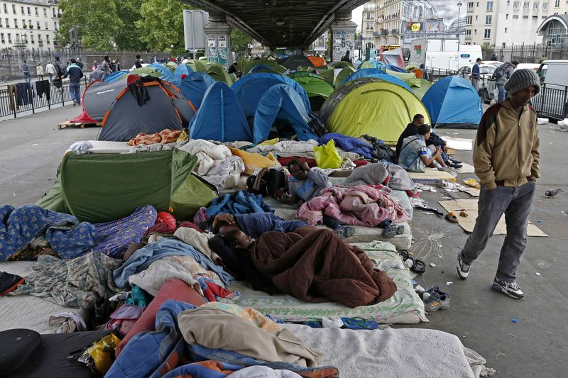 Image result for immigrants riot on paris streets 2016