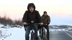 Syrians cycling to norway